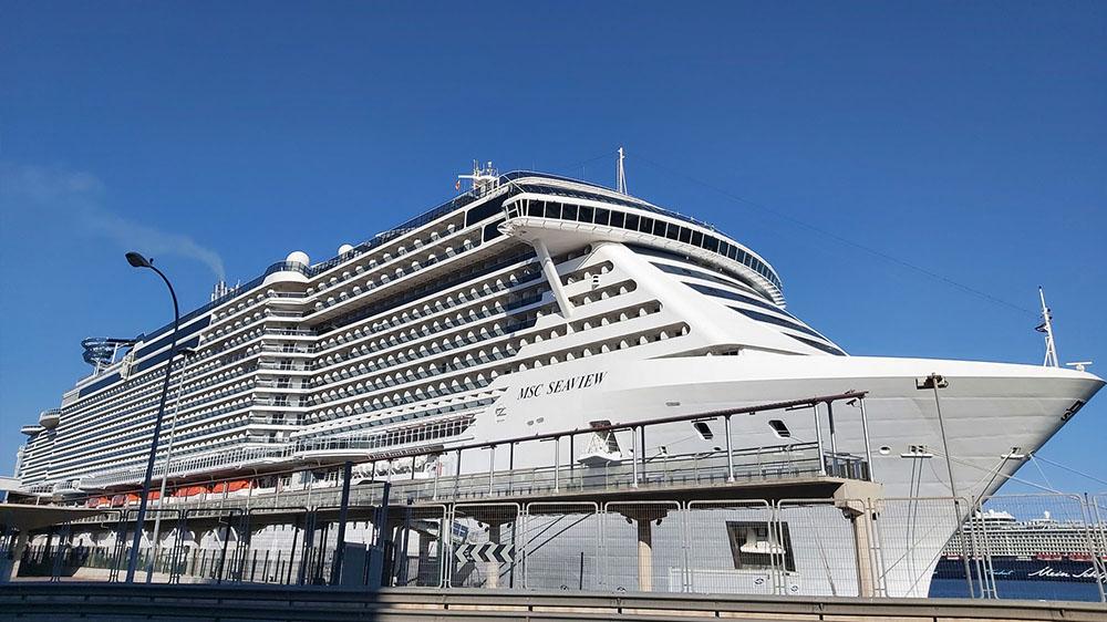 Llega a Palma el crucero MSC Seaview, un nuevo gigante del mar que amadrina Sofía Loren